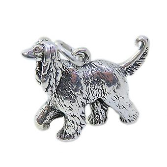 Afghan Hound Dog Sterling Silver Charm .925 X 1 Afghans Hounds Charms - 8578