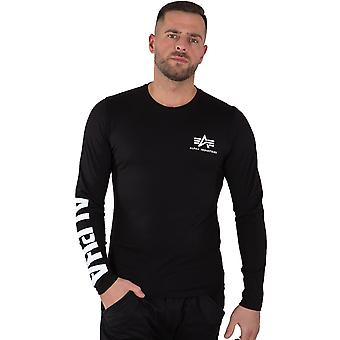 Alpha Industries Męskie koszulki z długim rękawem Nadruk Ciężki LS