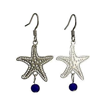 Brincos de vidro da praia de Fligrana Starfish