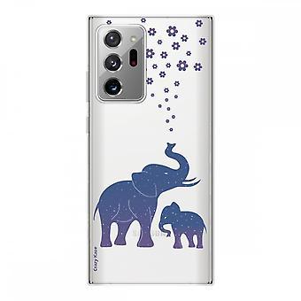 Hülle für Samsung Galaxy Note20 Ultra Silikon Weich 1 Mm, Elefant Blau