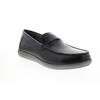 Geox U Yooking  Mens Black Loafers & Slip Ons Moccasin Shoes