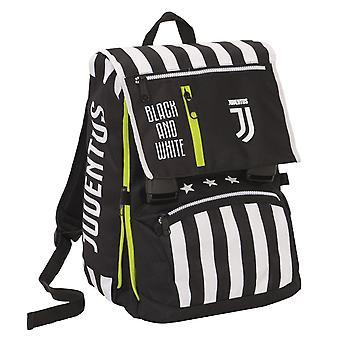 Grote Juventus Uitschuifbare Rugzak, Beste Match, Zwart-Wit, School & Vrije Tijd, met Bijpassend Horloge