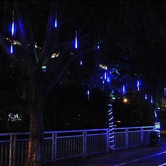 Solar Led Meteor Shower Rain & Holiday String Lights Waterproof Light 8 Tubes