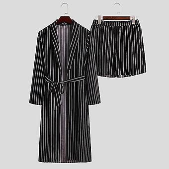 Fashion Men Nightgown Suits