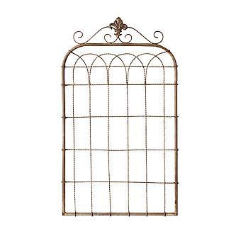 Metallo Fleur de Lis Twisted Wire Panel Gate Wall Hanging