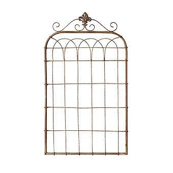 Metal Fleur de Lis trenzado panel de alambre puerta colgante