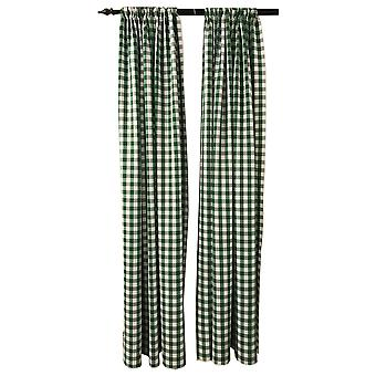 La Linen Pack 2  Polyester Gingham Checkered Backdrop, 58 By 96-Inch,Green/White