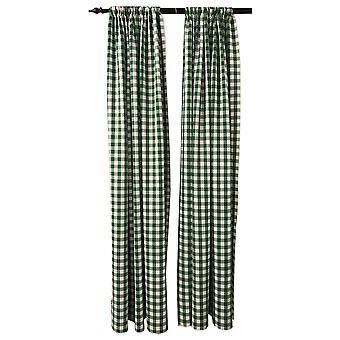 La Leinen Pack 2 Polyester Gingham karierten Hintergrund, 58 von 96-Zoll, grün/weiß