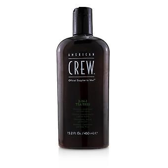 American Crew Men 3-IN-1 Tea Tree Shampoo  Conditioner and Body Wash 450ml/15.2oz