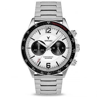 Vincero Sil-whi-p03 The Apex Silver & White Men's Chronograph Watch