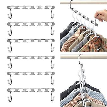 Metal Clothes, Shirts Tidy Hangers, Closet Space Saving Practical Racks