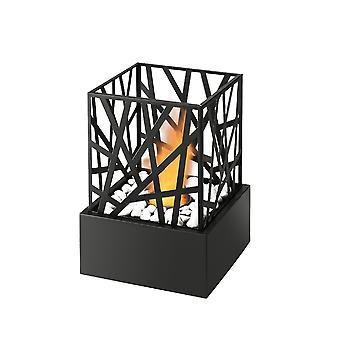 Bio Ethanol Nest Effect Black Fireplace Tabletop Firebox Burner Freestanding
