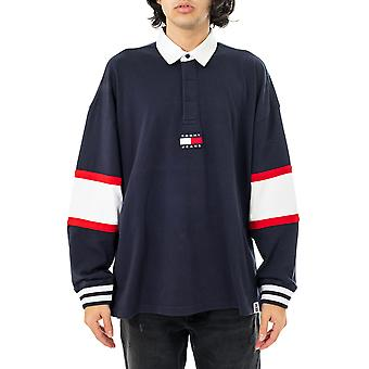 Tommy jeans tjm tommy badge rugby sweat-shirt dm0dm10197.c87