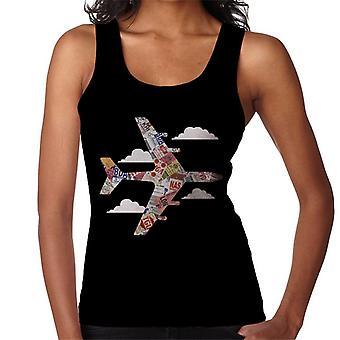 Pan Am Plane Baggage Tags Women's Vest
