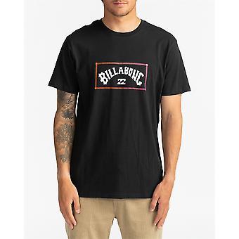 Billabong Men's T-Shirt ~ Arch black