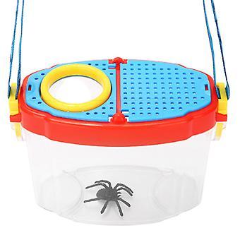 Hyönteislaatikko lapsiopiskelija lelu ulkona luokkahuoneen tarkkailulaatikko 6 kertaa suurennusikkuna Hyönteislaatikko suurennuslasi