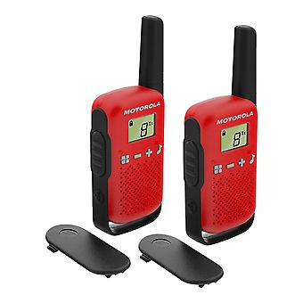 Portable PMR radio station Motorola TALKABOUT T42 RED set with 2 pcs