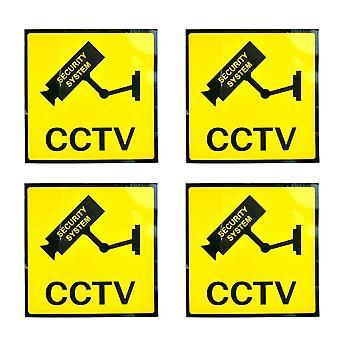 4kpl / erä Aurinkosuoja Koti Cctv VideoValvonta Kamera Hälytys Tarra