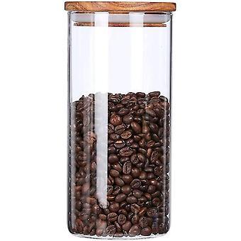 FengChun Vorratsdose Glas Luftdicht, Glasbehälter mit Deckel,Kaffeedose Luftdicht Glas 500g,