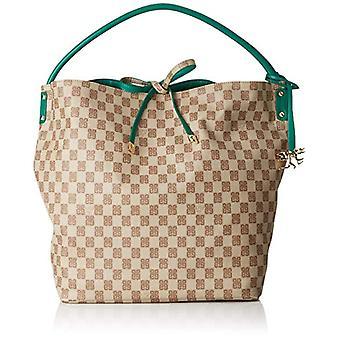 piero guidi Reversible Hobo Bag, Women's Shoulder Bag, Green (Bottle Green), 32x35x13 cm (W x H x L)