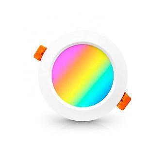 זרקור LED חכם PNI SafeHome PT58RC WiFi, שקוע, תקרה, RGBW, 7W, 600 lm, אור / צבע מתכוונן באמצעות אינטרנט, יישום Tuya חכם, שילוב תרחישים ואוטומציה חכמה עם oth
