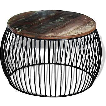 vidaXL Table basse rond bois 68x43 cm