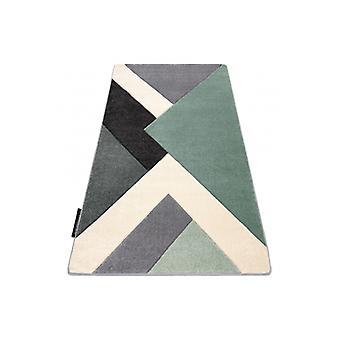 Rug ALTER Ice Geometric, triangles green / grey