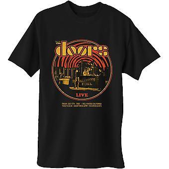 The Doors - 68 Retro Circle Men's Large T-Shirt - Preto