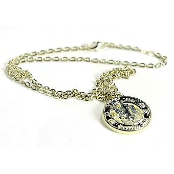 Chelsea Silver Plated Crest Pendant and Chain