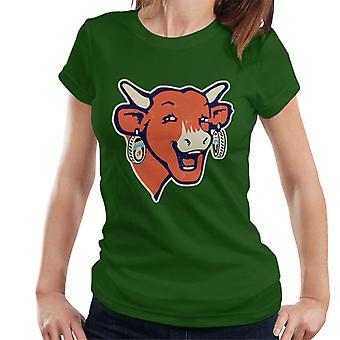 Den grinende Cow Modern Logo Kvinders T-shirt