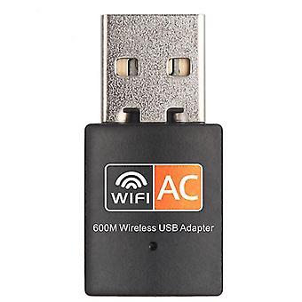 Νανο ασύρματος προσαρμοστής USB διπλής ζώνης 600M 2.4Ghz/5Ghz μίνι δίκτυο Dongle