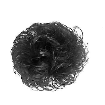 Synthetisches Haar Bun Chignon Haarteil Frauen Haarnadel Schwarz