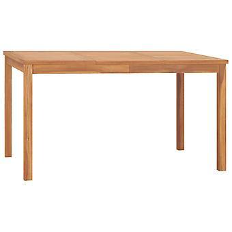 vidaXL Table à manger 140x80x77 cm teck massif
