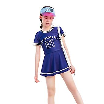 Girl's swimsuit one-piece sun protection quick-drying