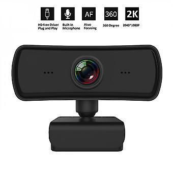 2k Webcam Hd Computador Pc Web Camera com microfone