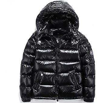 Shiny Down Jacket Men's Winter Jacket Stand Collar Down Jacket With Hood