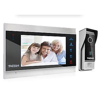 7 Zoll Tft Wired Video Intercom System mit wasserdichter Türsprechkamera,