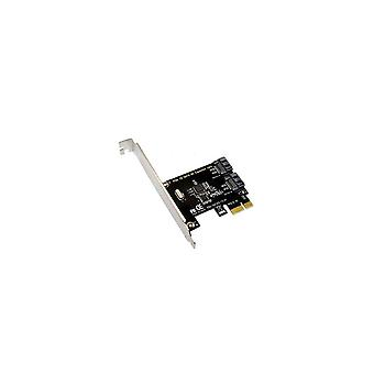 SATA3 - T2 PCI -e naar SATA 3.0 uitbreidingskaart 6 Gbps met twee SATA-interfaces voor desktopcomputer