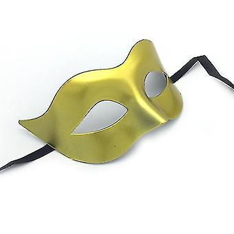 Halloween Black Masquerade Masks Cool Men Adult Kids Fighter Half Face Venetian Mask(Sliver)
