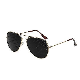 Óculos pinhole myopia prevenção Astigmatism Pin Hole Glasses Anti-fadiga
