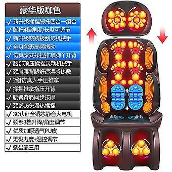 Elektrisk massager hals lændehvirvel ryg skuldre multi-funktion krop vibration æltning stol pude