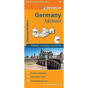 Germany Mideast  Michelin Regional Map 544 Map Michelin Regional Maps 544