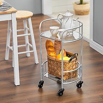 Métal Cuisine Chariot de service Trolley Table d'extrémité