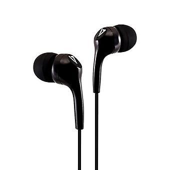 V7 HA105-3EB, Casque, Dans l'oreille, Musique, Noir, Binaural, Contrôle en ligne
