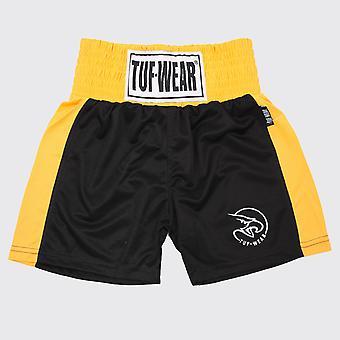 Tuf Wear Kids Junior Club Boksning Shorts Sort / Guld