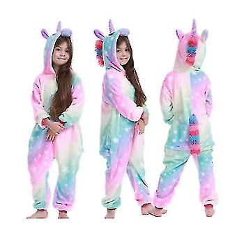 Yksisarvinen Stitch Kigurumi Lapset Lapset Pyjama Talvi Flanelli Lämmin Sleepwear (120cm)