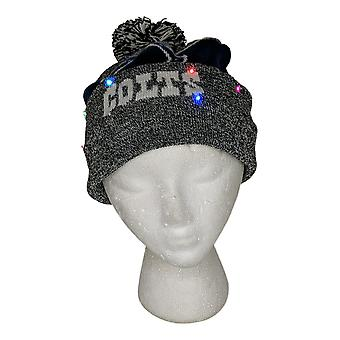 NFL Indianapolis Colts LED Lighted Stripe Beanie Gray Knit Winter Hat A371654