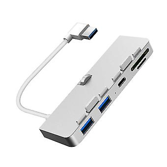 Aluminiumlegierung USB 3.0 Hub 3 Port Adapter Splitter mit SD / TF Kartenleser für iMac 21.5 27 PRO Slim
