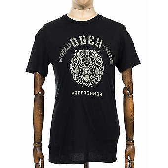 Obey Clothing Global Legion Tee - Off Black