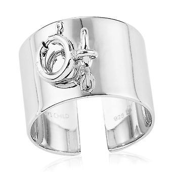 TJC Open Band Ring für Damen in Platin Platt sterling Silber(O)
